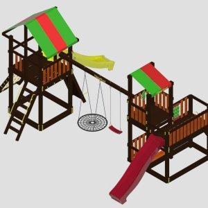 Детский игровой комплекс  VikingWood Kamelot