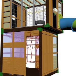 Детский игровой комплекс VikingWood Куб 1