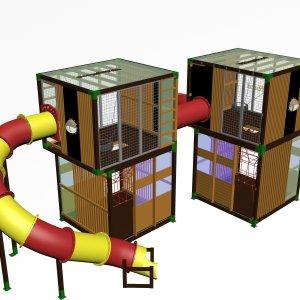 Детский игровой комплекс VikingWood Куб 2