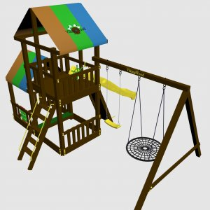 Детский игровой комплекс VikingWood Turin с кольцом