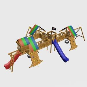 Детский игровой комплекс VikingWood Malibu