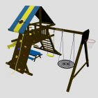 Детский игровой комплекс VikingWood Amigo с кольцом