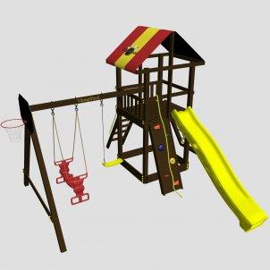 Детская игровая площадка VikingWood Rodeo с качелями Duet