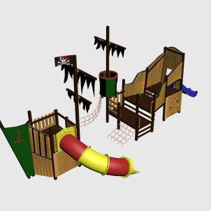 Детский игровой комплекс VikingWood Fregat