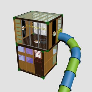 Детский игровой комплекс VikingWood Kub 1