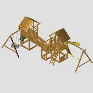 Детский игровой комплекс VikingWood Duet